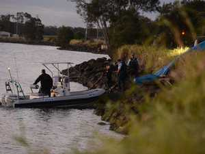 Police divers arrive for heartbreaking retrieval at river