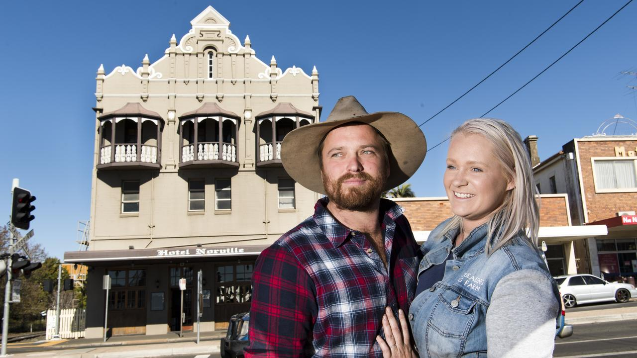 Jason Bartholomew and Grace Lindsay of Squealing Pig Farm become the new owners of the Norville Hotel. Tuesday, 7th Jul, 2020.