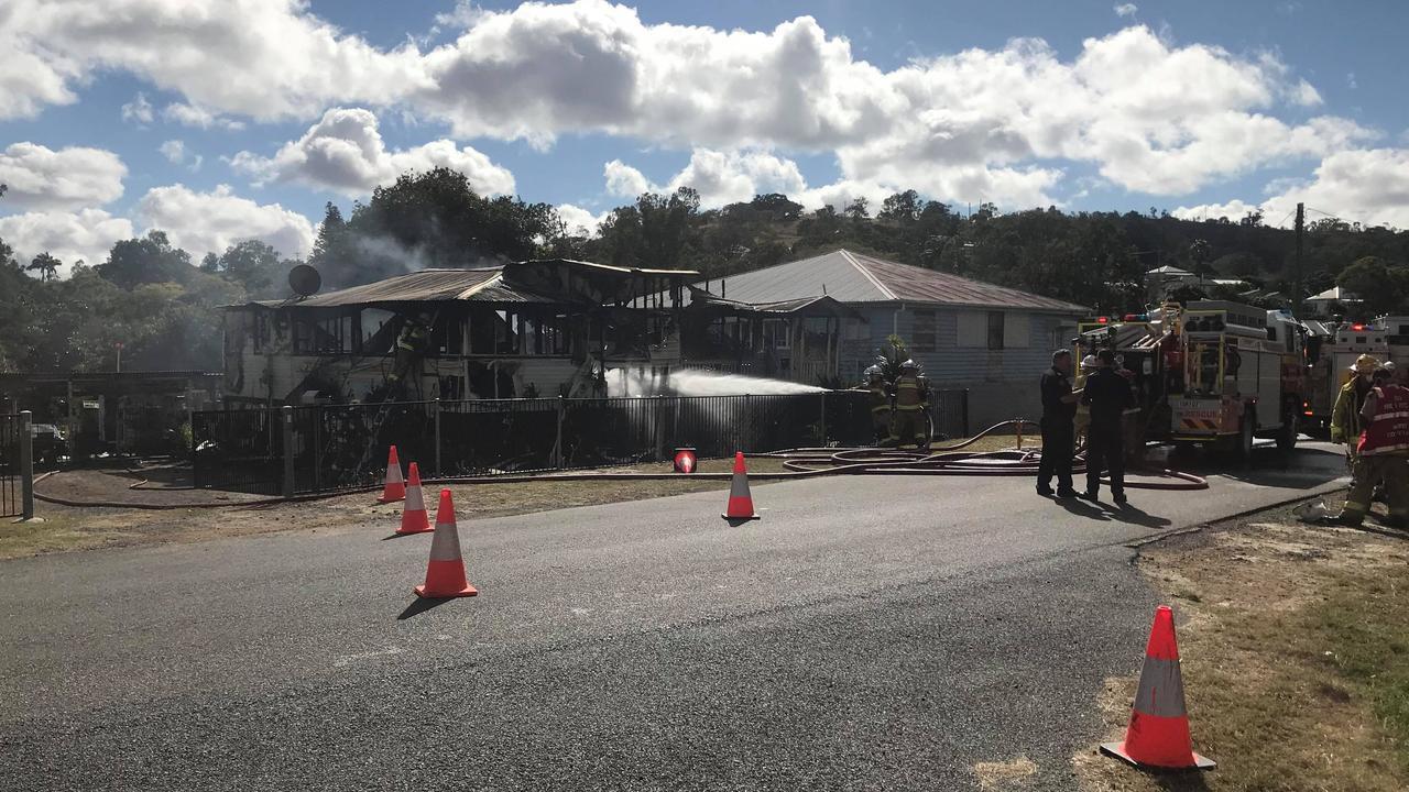 A fire gutted a house in Bridge St, Mount Morgan, last week.