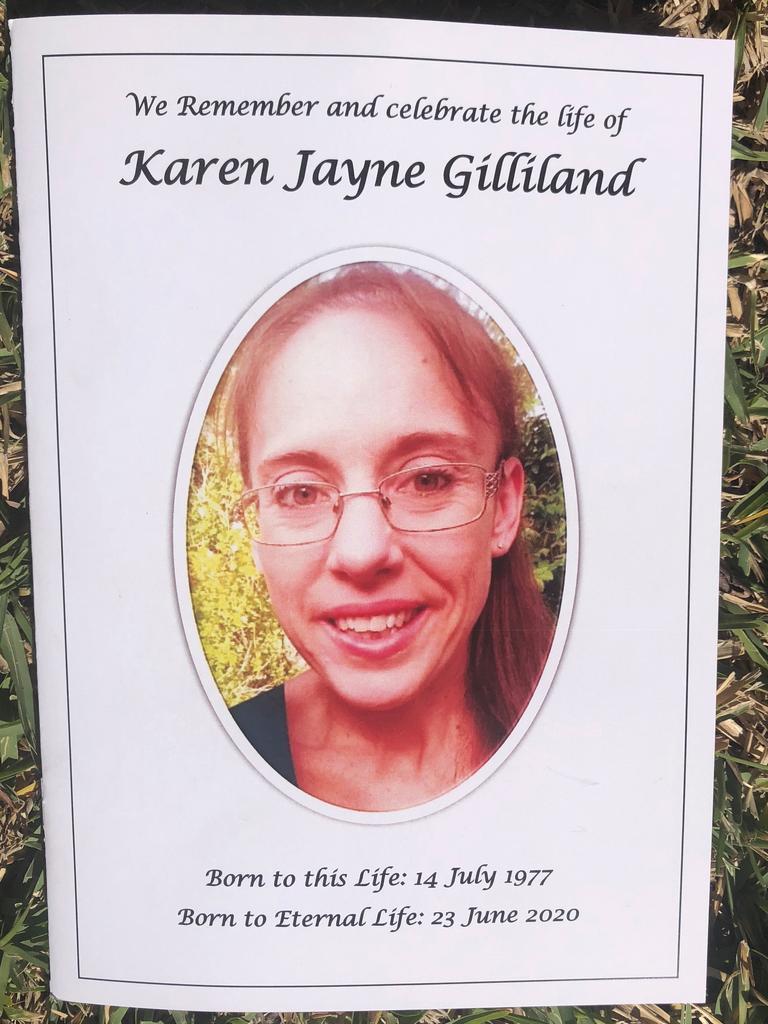 Karen Gilliland's funeral service.