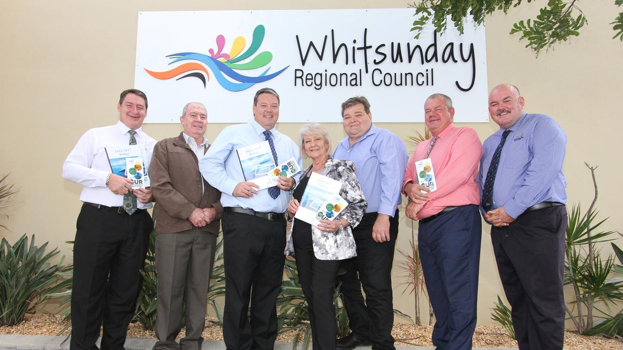 The audit occurred before current councillors were voted in and examined the reimbursements of the council from July 2018 to March 2019. Pictured is the previous council from left, former Division 2 Cr Ron Petterson, former Division 4 Cr Peter Ramage, current Mayor Andrew Willcox, current Division 1 Cr Jan Clifford, current Division 3 Cr John Collins, former Division 5 Cr Dave Clark and current D