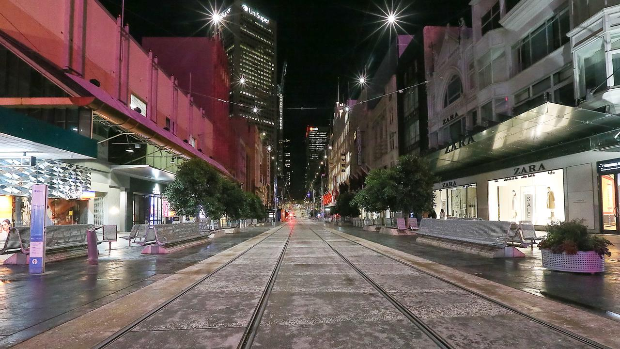 Melbourne's CBD has been deserted. Picture: Ian Currie