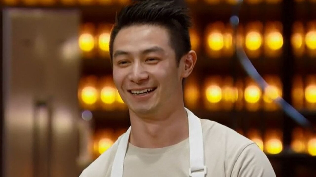 Reynold was all smiles as he won the last immunity cook of the season. Picture: Channel 10