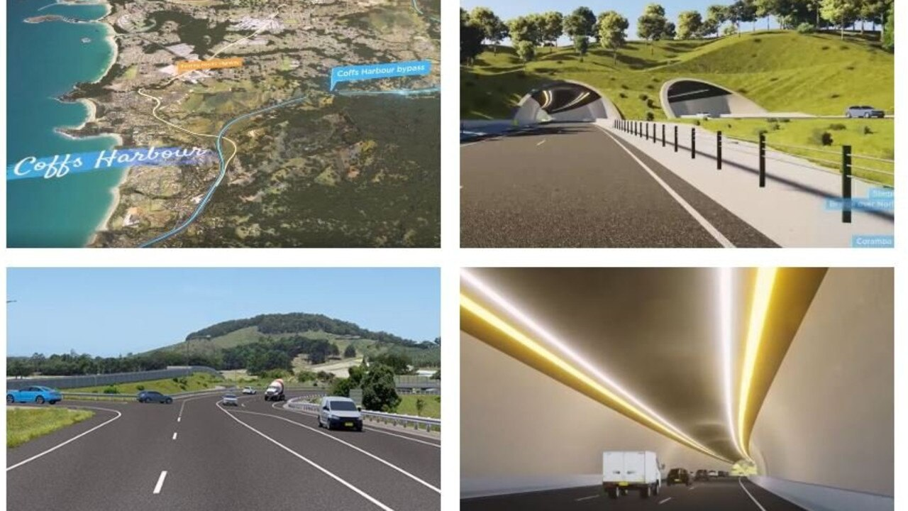 How the $1.2 billion Coffs Harbour Bypass will look.