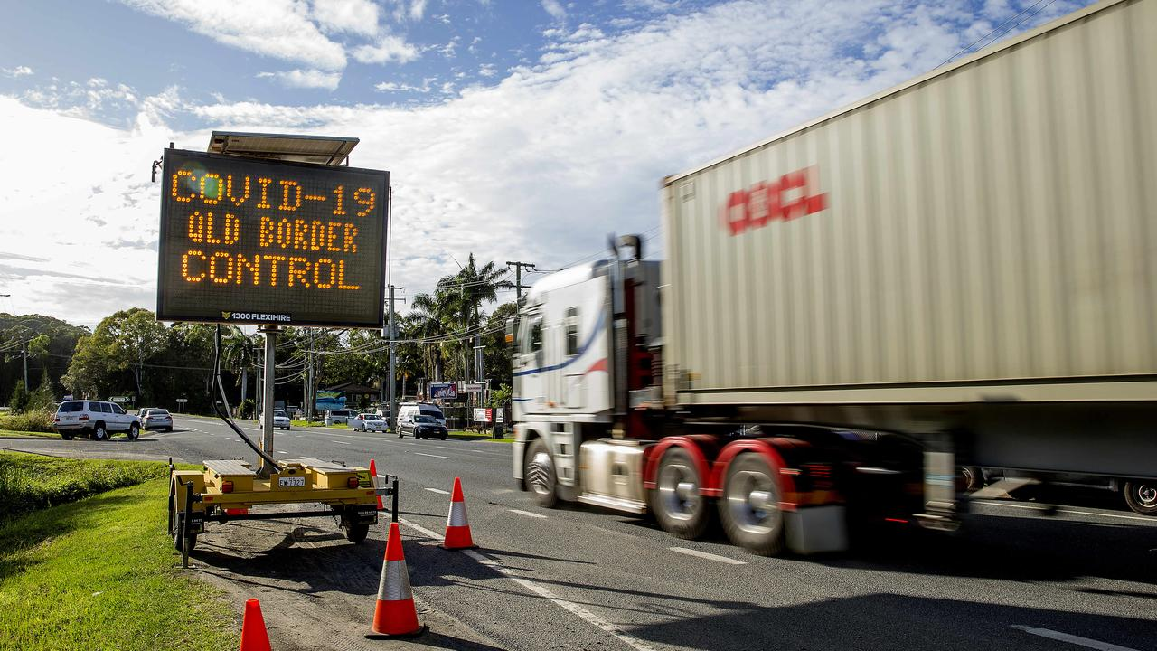 A NSW truckie has been slammed for putting lives at risk after he breached COVID-19 border restrictions. Picture: Jerad Williams