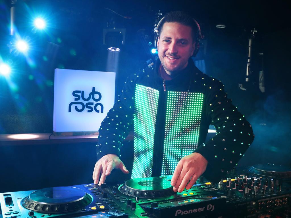 DJ Marc Hackenberg at Sub Rosa. Picture: Liam Kidston
