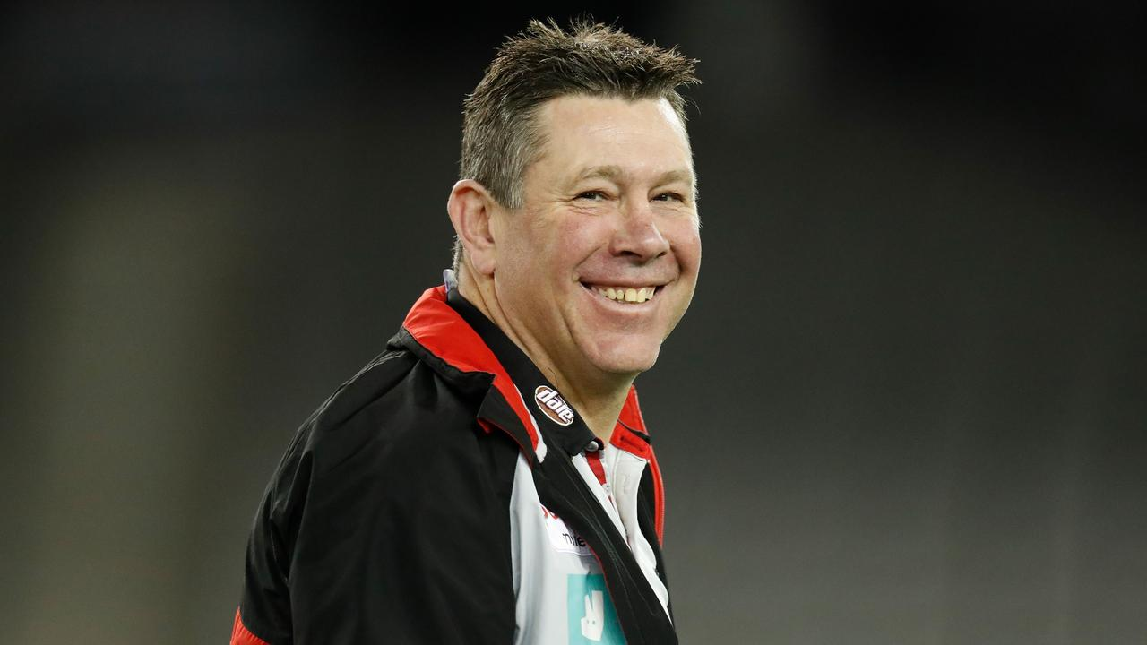 Brett Ratten, senior coach of the Saints prepares for two weeks in Noosa lockdown. (Photo by Michael Willson/AFL Photos via Getty Images)