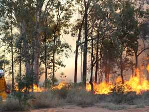 Hazard reduction burn to protect small community