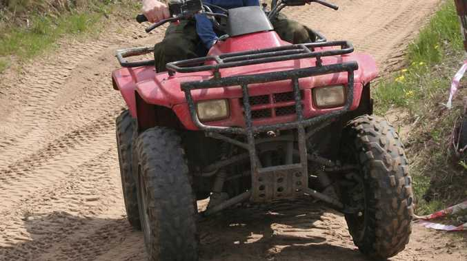 Quad bike rider badly injured in rollover