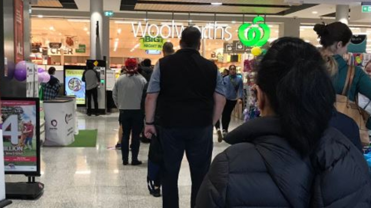 People have rushed to supermarkets across Victoria before tomorrow night's lockdown despite shopping for food being a reason to leave home.