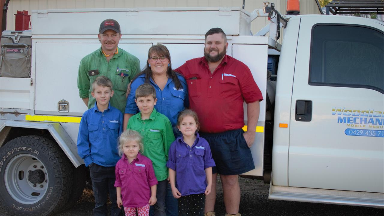 FAMILY BUSINESS: (From left) Isaac Stone, Jimmy Rockliff, Luke Rockliff, Carly Rockliff, Chelsea Rockliff, Gabby Rockliff, Brent Rockliff
