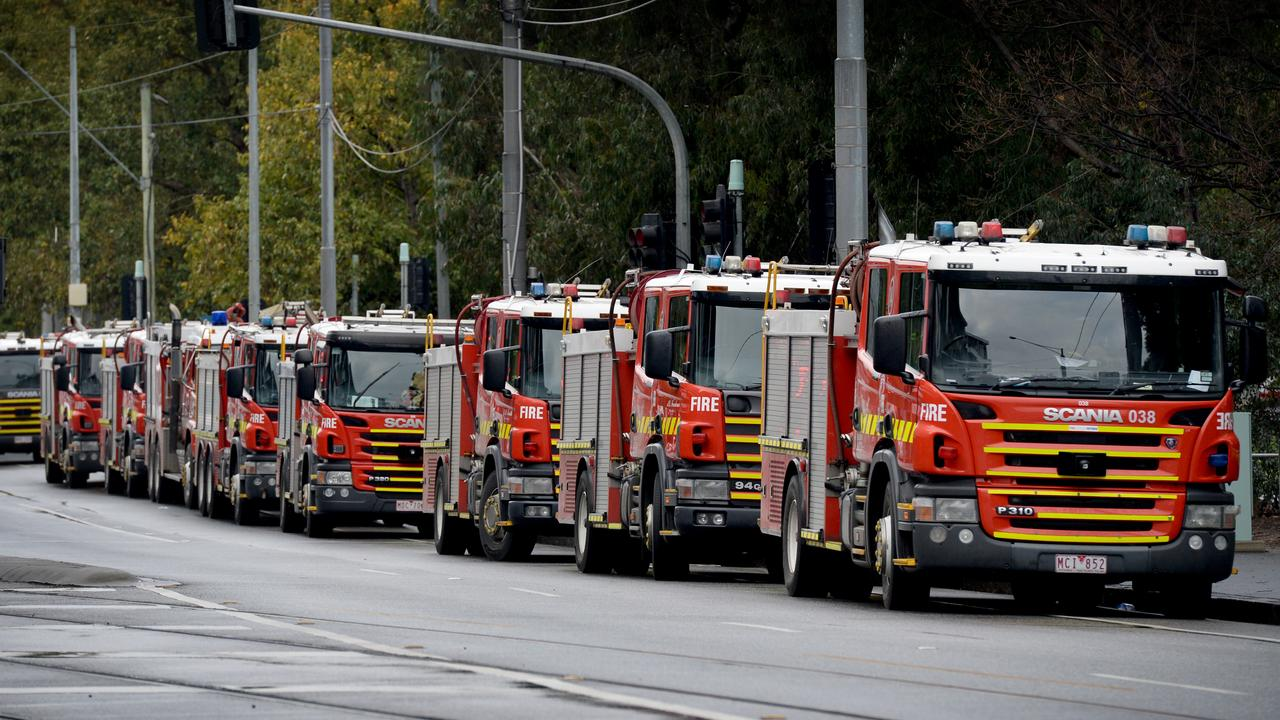 Fire crews are supporting efforts to deliver food to tower residents. Picture: Andrew Henshaw