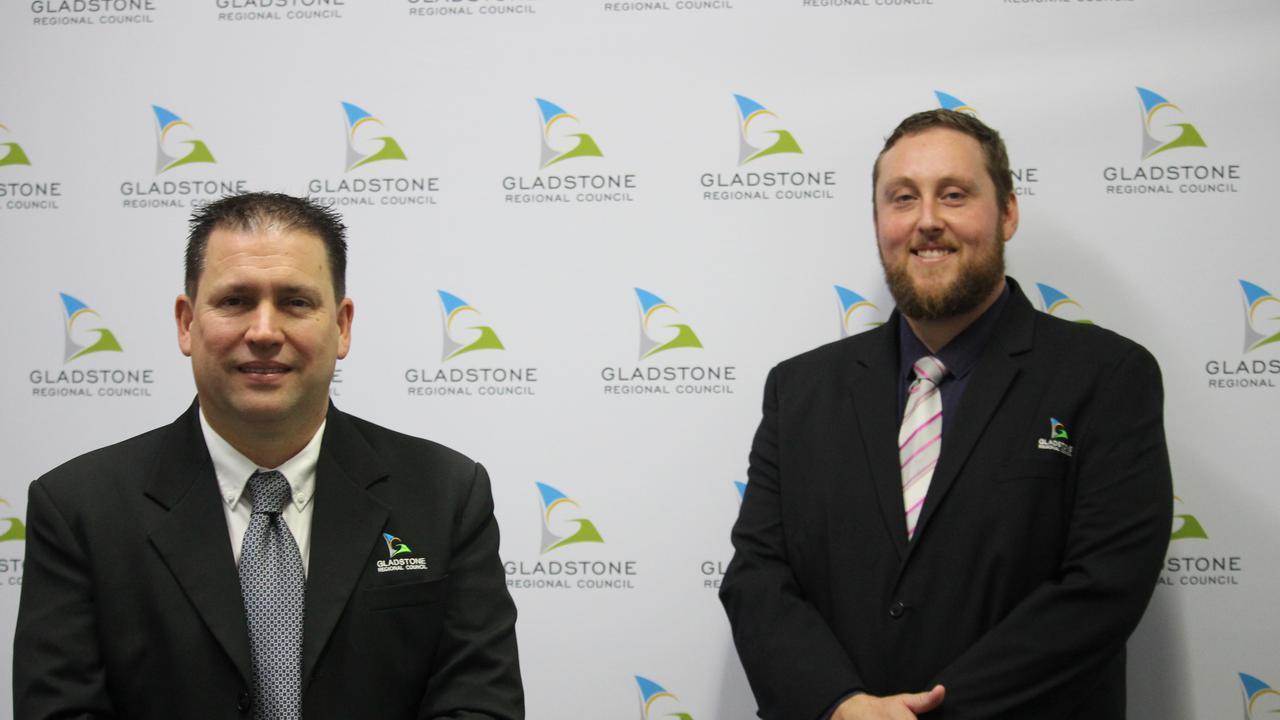 Gladstone Regional Council Mayor Matt Burnett and new Deputy Mayor Kahn Goodluck.