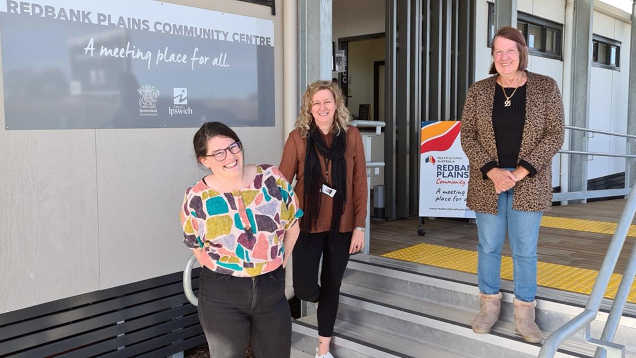Redbank Plains Community Centre manager Rose Dash, Acting Community Development co-ordinator Tanya Appleton and local resident and RPCC volunteer Diana Gee.