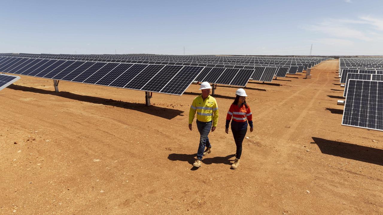 Merredin Solar Farm near Perth. PHOTO: MARIE NIRME