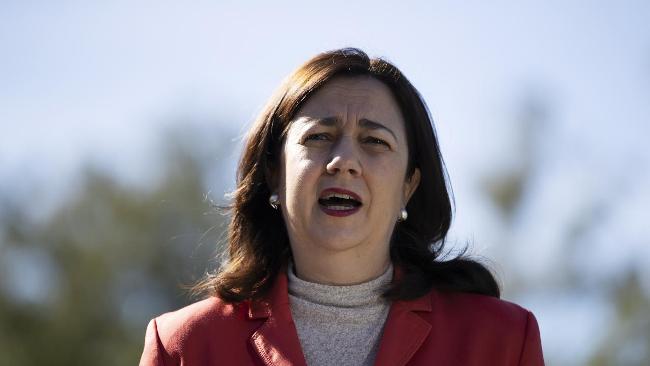 Premier Annastacia Palaszczuk will come under pressure to take more returning international passengers. Picture: News Corp/Attila Csaszar