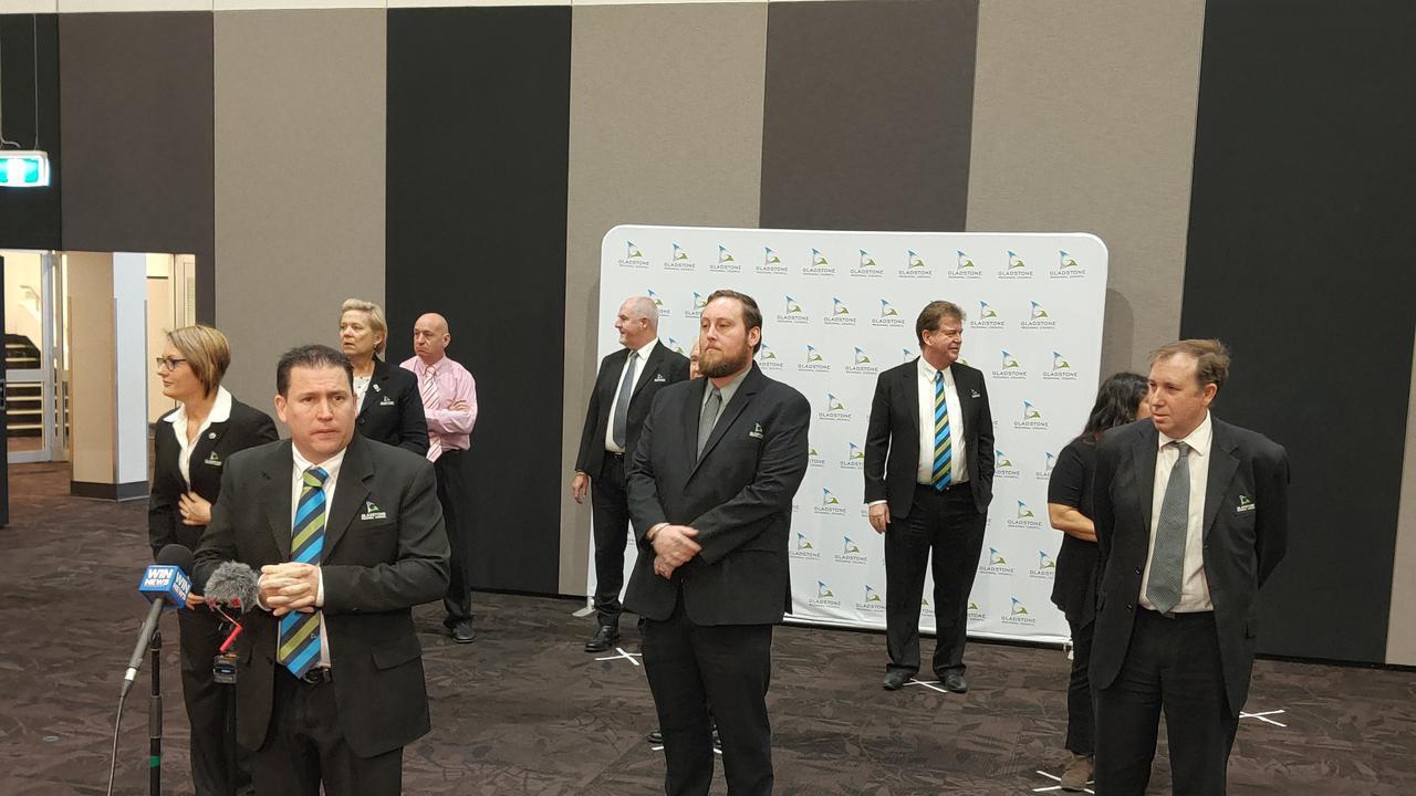 Gladstone Regional Council face the media.
