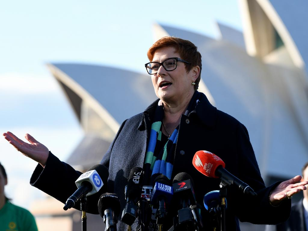 Minister for Foreign Affairs Marise Payne. Picture: AAP Image/Bianca De Marchi