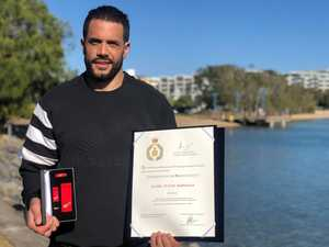 Daniel McDonald was commended for brave conduct four