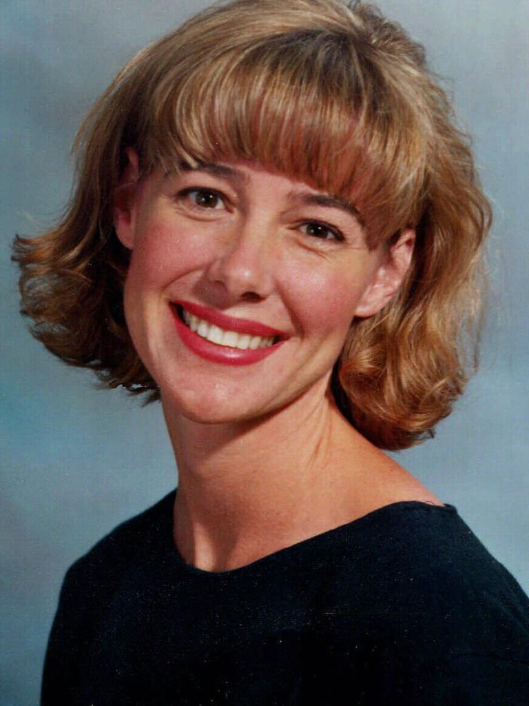 And in her 1996 school photo. Picture: AP Photo/Seattle Post-Intelligencer, HO