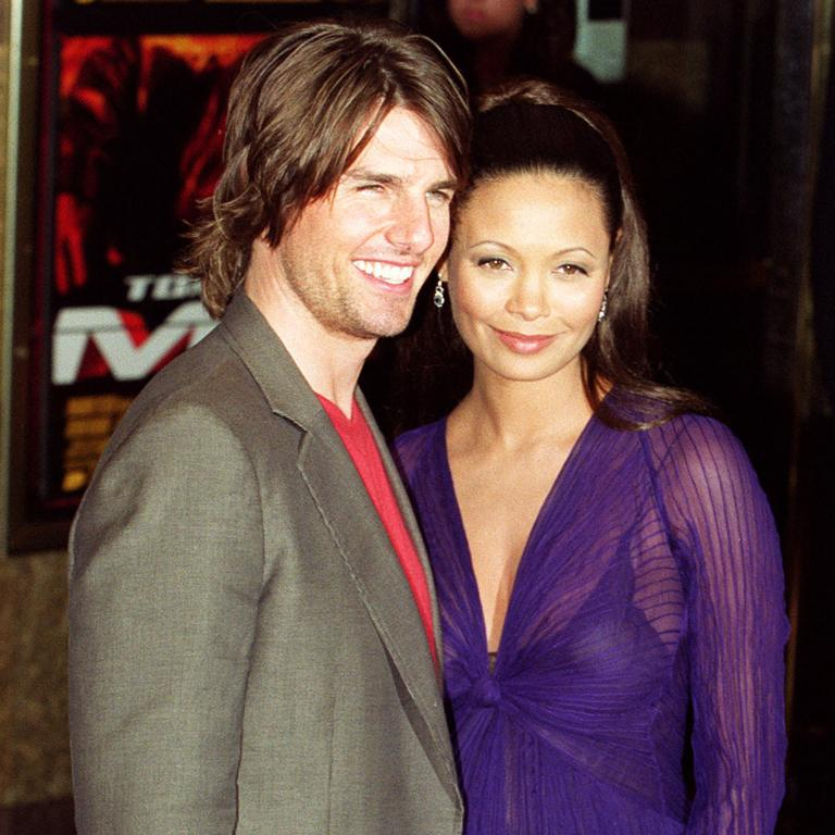 Cruise and Newton at the London premiere for the film in 2000. Picture: AP