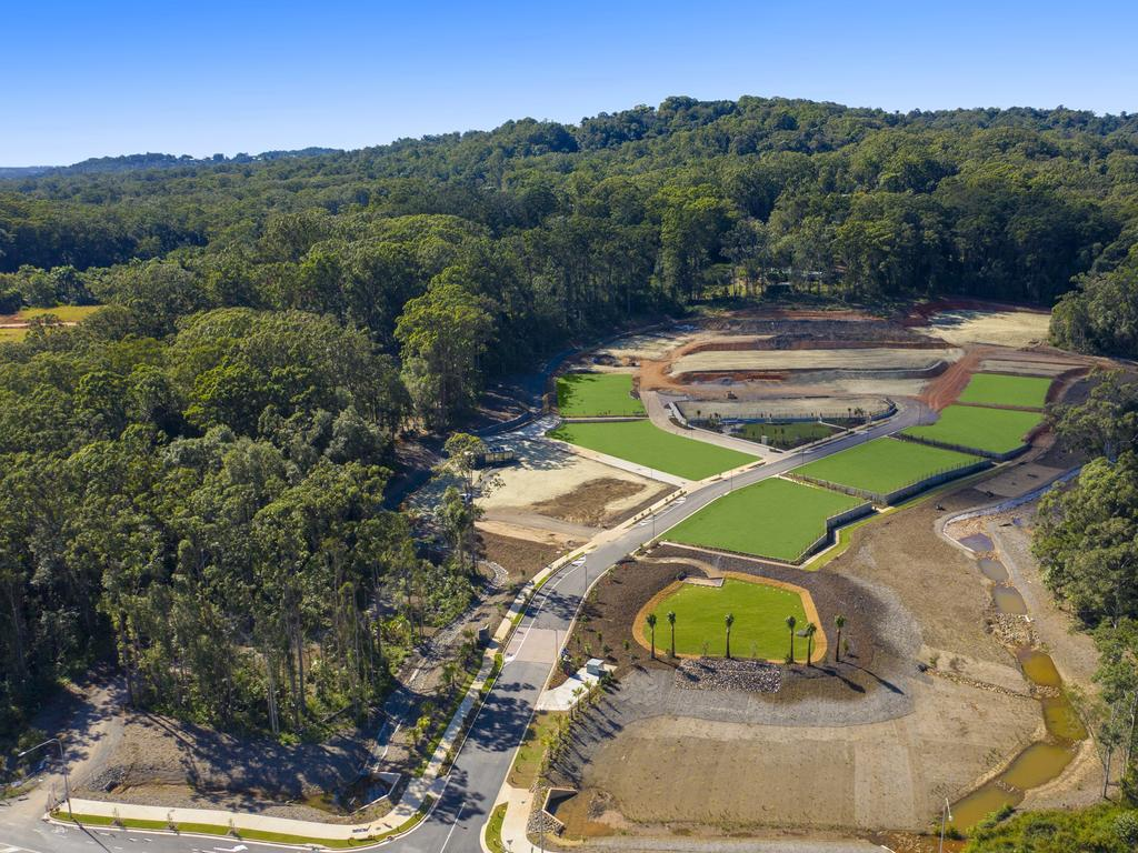 Aerial footage from the Azure estate in Forest Glen where 21 lots all sold on one weekend.