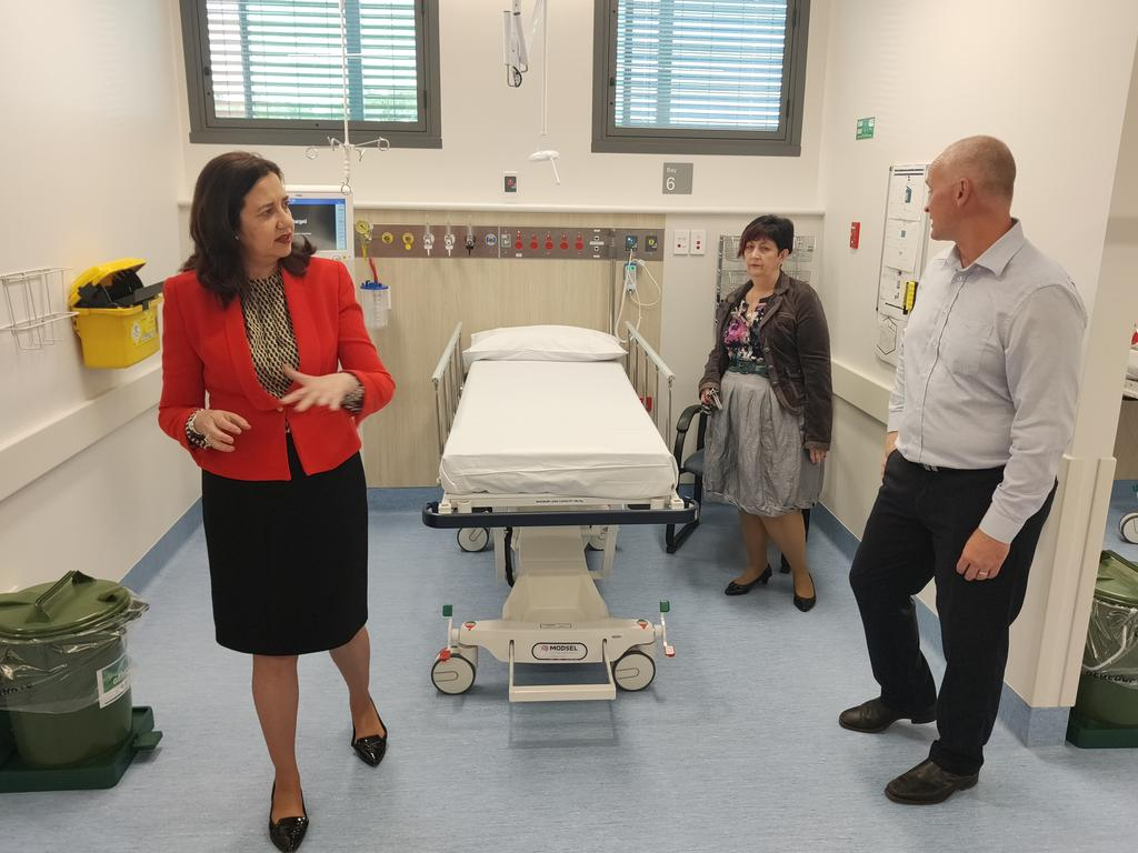 Premier Annastacia Palaszczuk is visiting Gladstone, where she is spruiking an update to the local health facilities as Queensland continues to gear up for the reopening of the borders at noon on Friday.