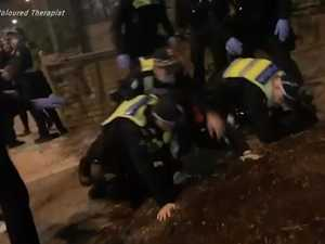 'I can't breathe!' Dramatic tower arrest