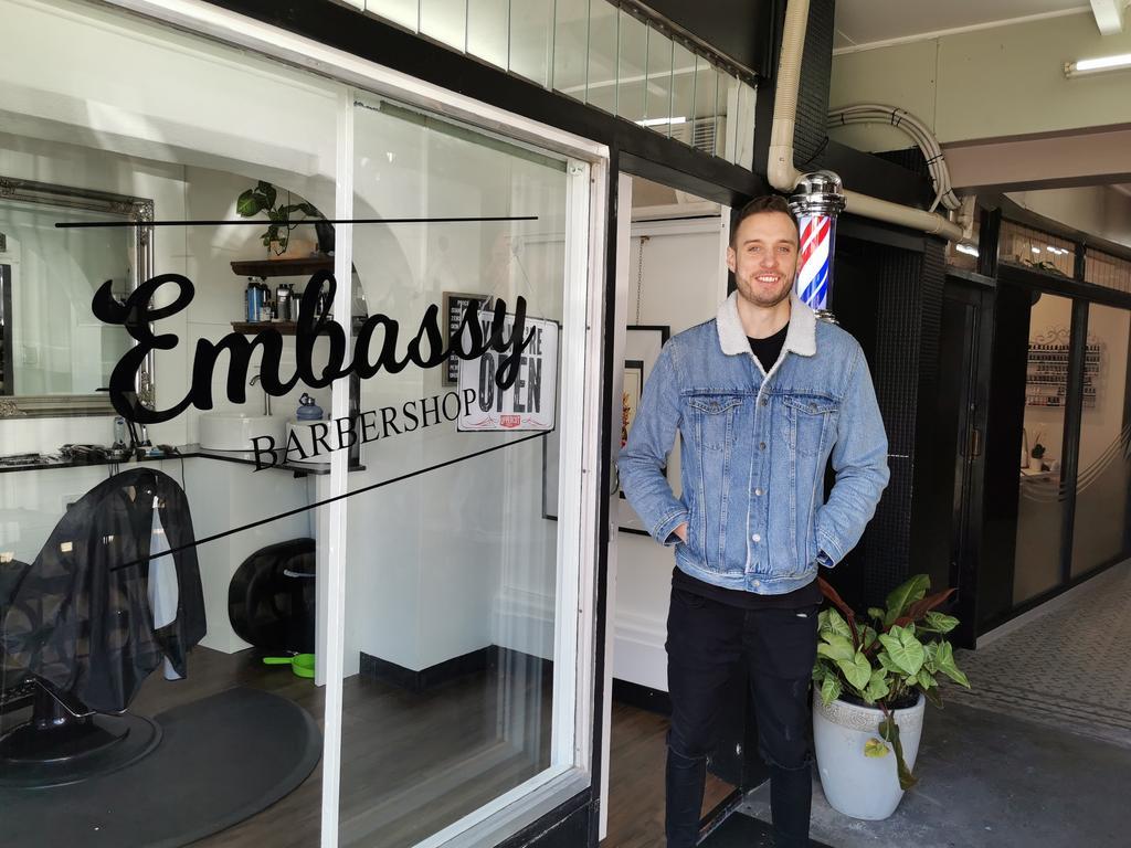 BARBER: Andy Daniels has opened up Embassy Barbershop in the Embassy Arcade during the coronavirus pandemic.