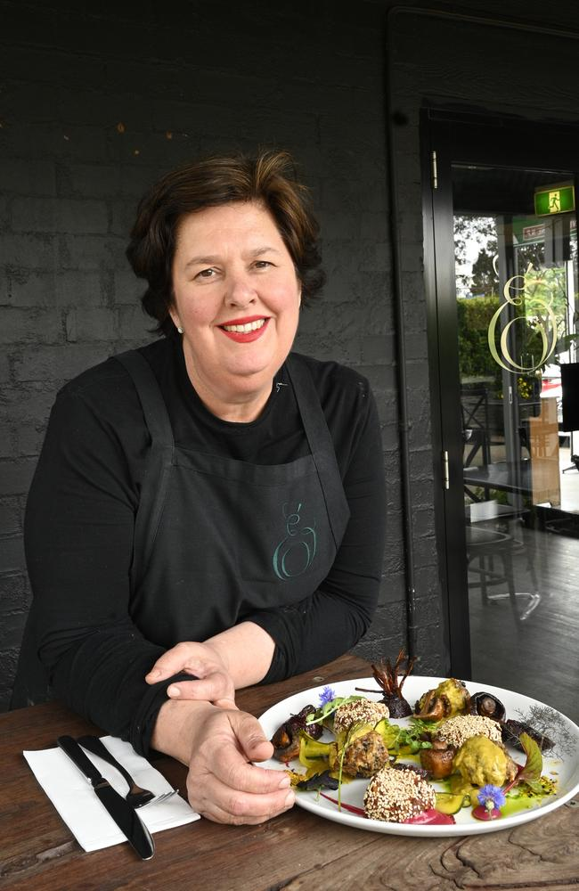 Owner Amanda Hinds is devastated that her popular restaurant Emeraude at Hampton will have to close because of a water tank issue. Picture: Bev Lacey