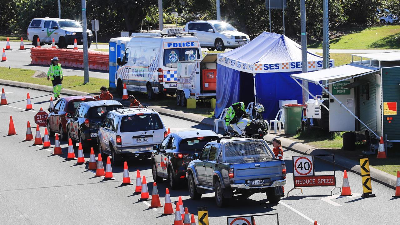 The border crossing at the Gold Coast Airport. Photo Scott Powick Newscorp