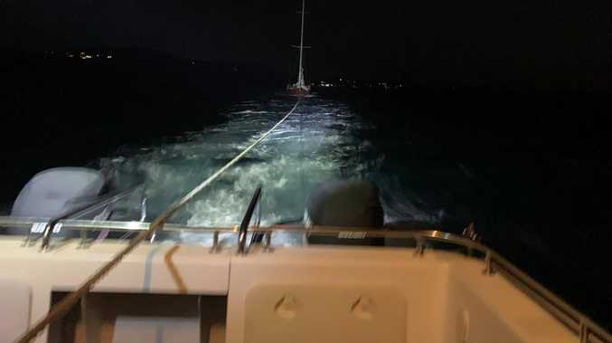 Man's lucky escape after 36ft yacht trapped at low tide