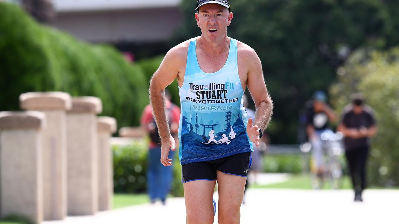 Stuart Giles has not only runs a successful billion dollar cancer care business - he is one of the rare people who have successfully run all the world's top five marathons. Pics Adam Head.