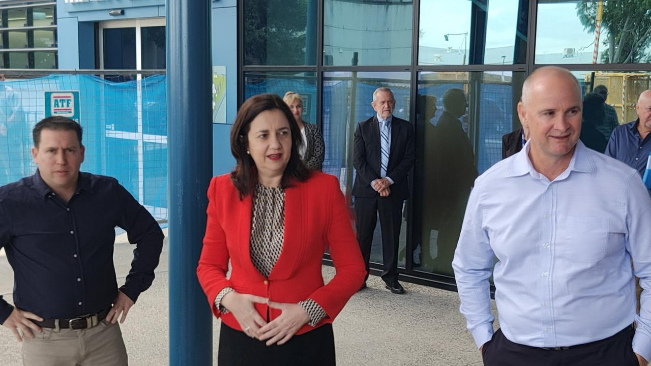 PREMIER Annastacia Palaszczuk speaking in the new $42 million Gladstone Hospital emergency department, which is set to open on August 5.
