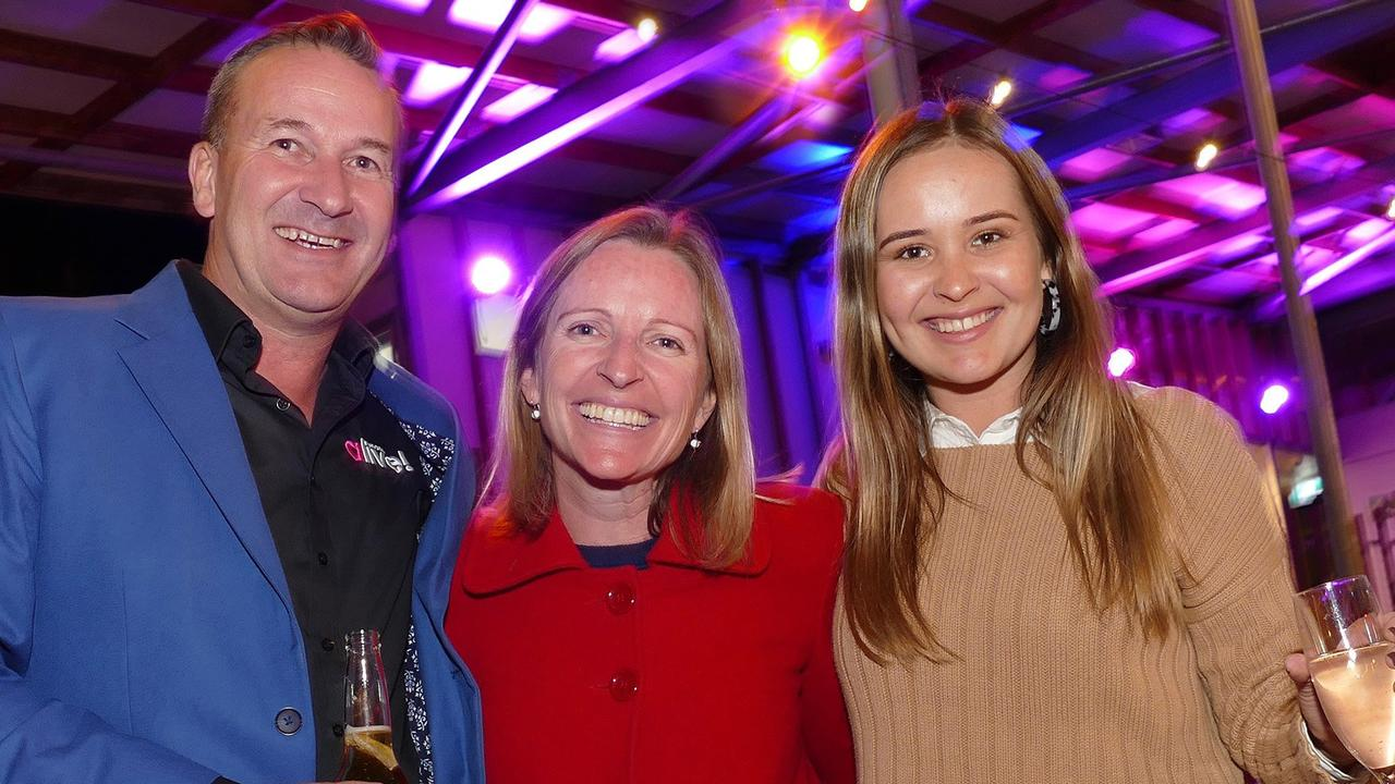 Noosa Alive! president Andrew Squires, Linny Studley and Samantha Squires.