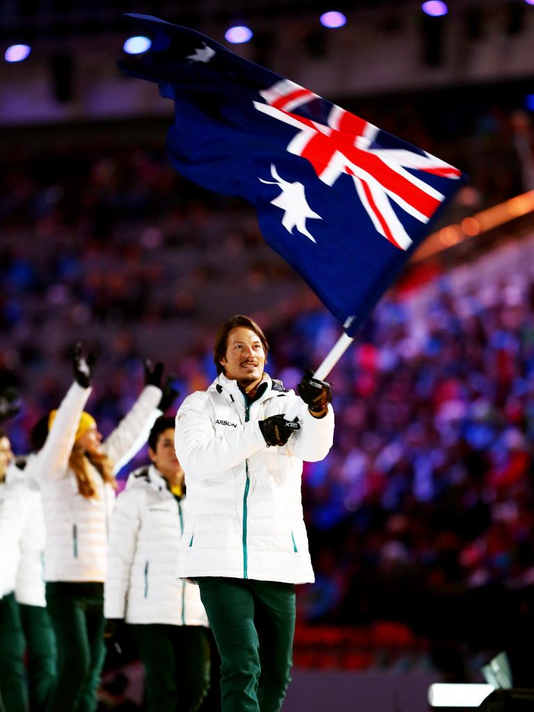 'Chumpy' was Australia's flag-bearer at the Sochi Games. Picture: Ryan Pierse/Getty
