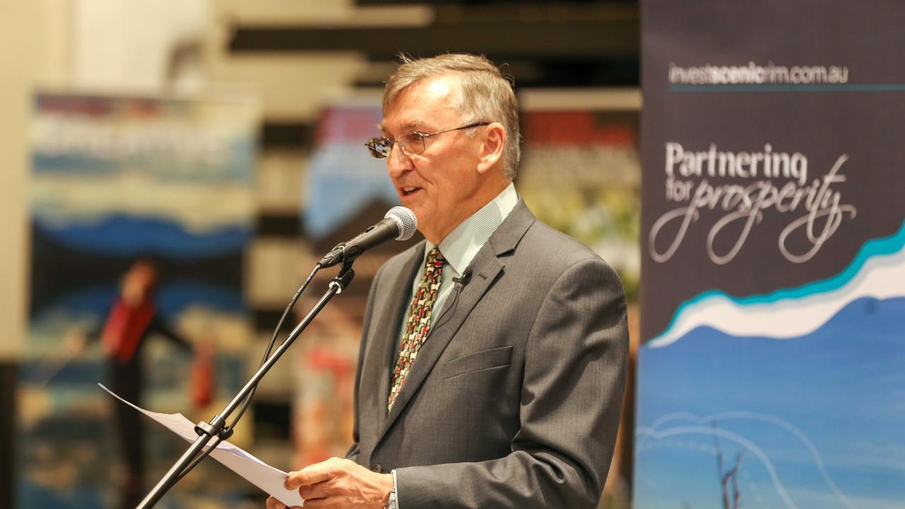 Scenic Rim Regional Council mayor Greg Christensen hands down the council's 2020-21 budget.