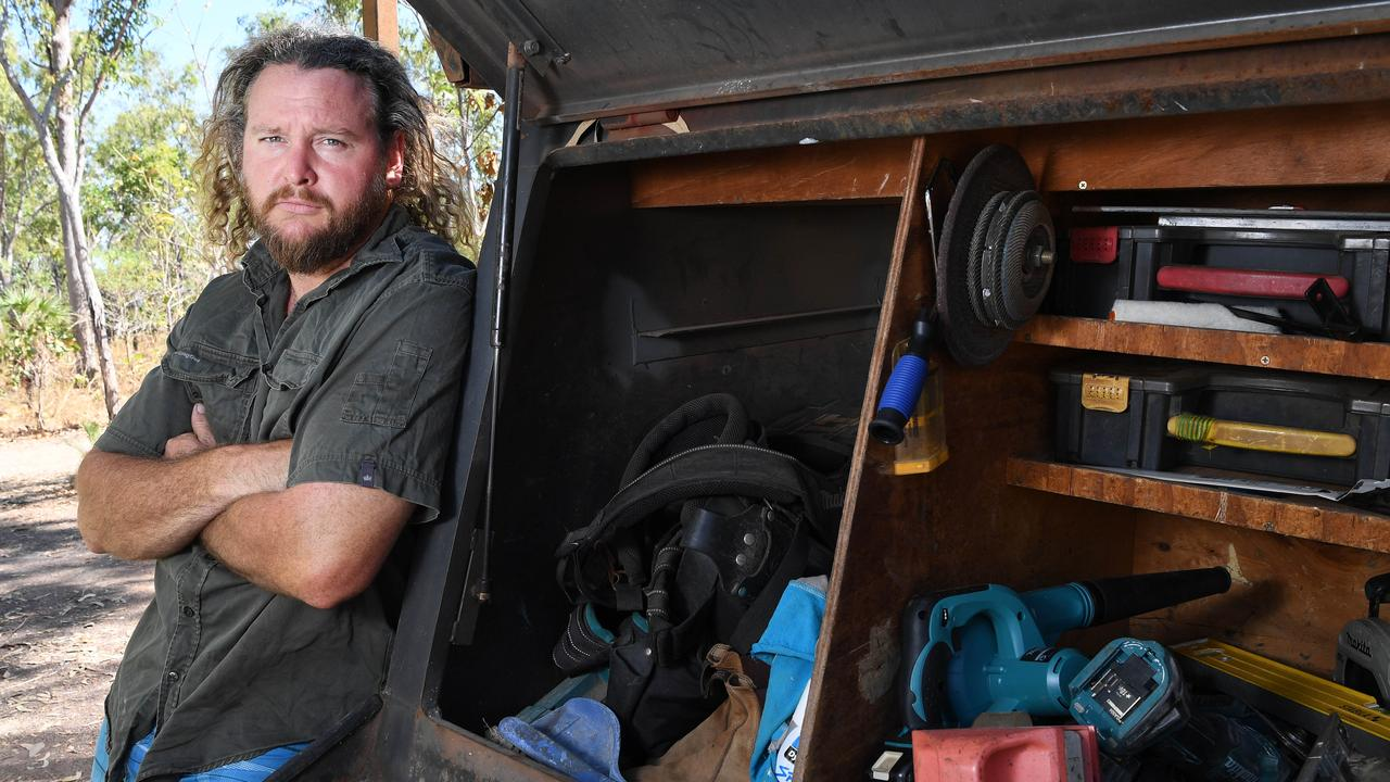 Carpenter Dave Crawford has tried everything to get the money he is owed.  Picture: Katrina Bridgeford