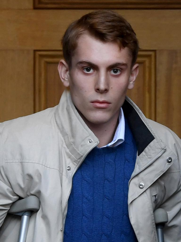 Harrison Kitt leaves court after Wednesday's hearing. Picture: Tricia Watkinson