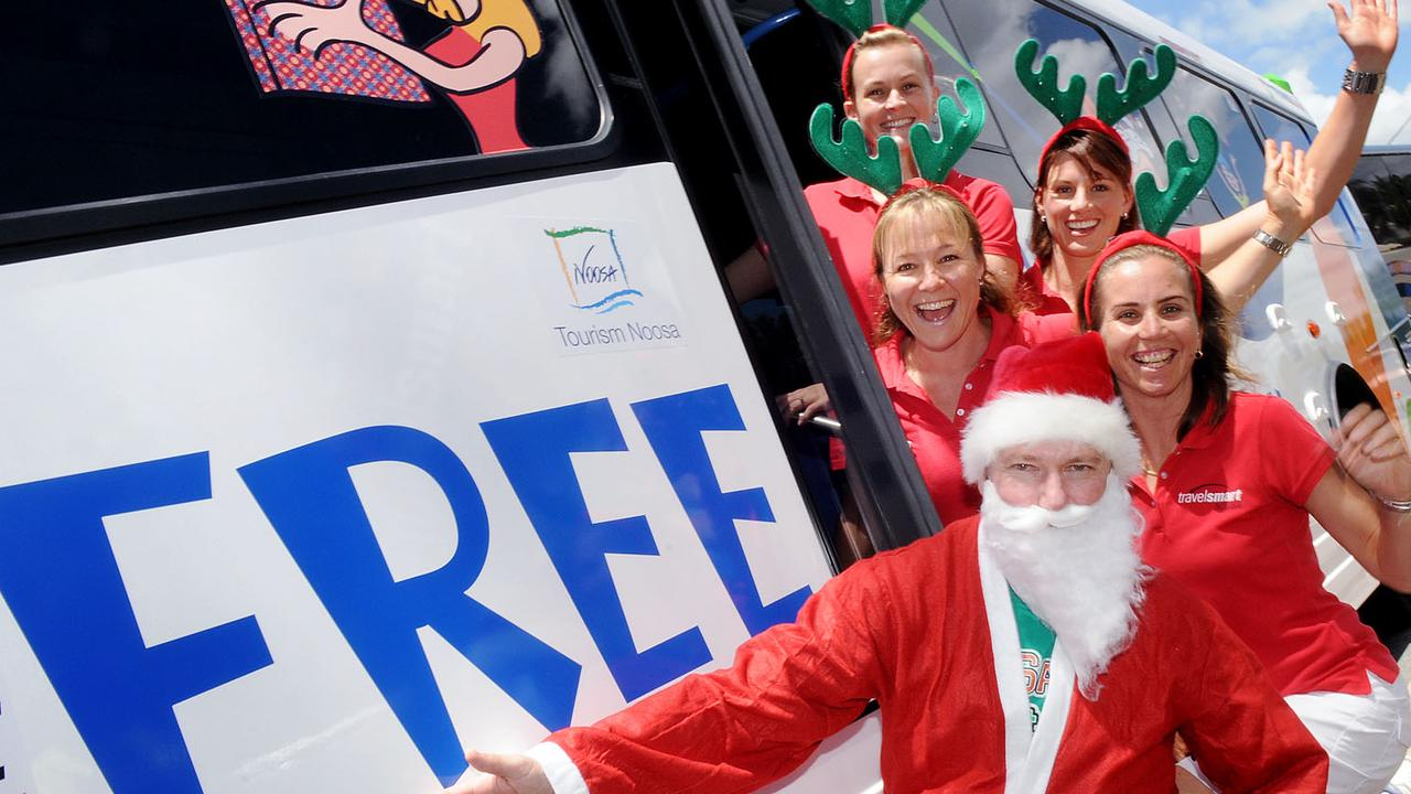 AS159975 Christmas holiday Noosa Free Bus launch.... Picture: ANDREW SEYMOUR