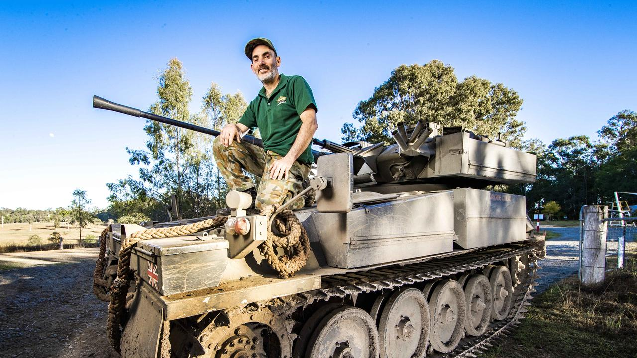 Tim Wood is selling his extensive collection of tanks due to financial hardship because of Covid-19. Picture: Nigel Hallett