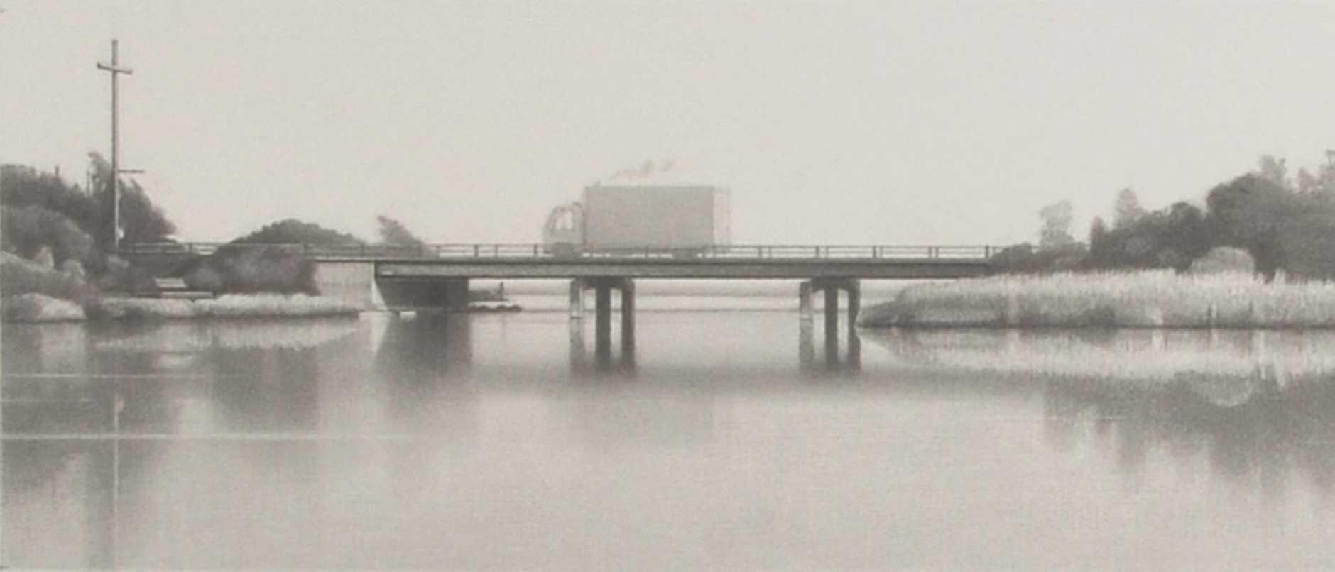 Ken Smith, A truck crossing a bridge by the sea