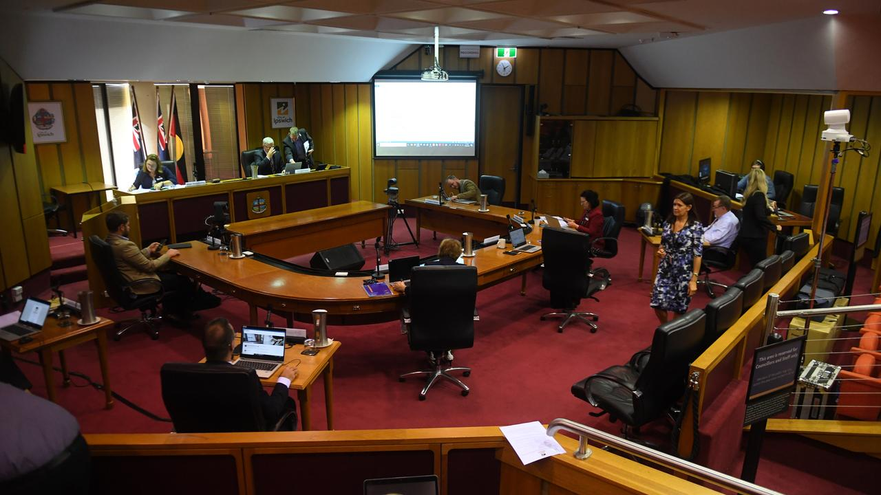 Ipswich City Council meeting held on Wednesday.