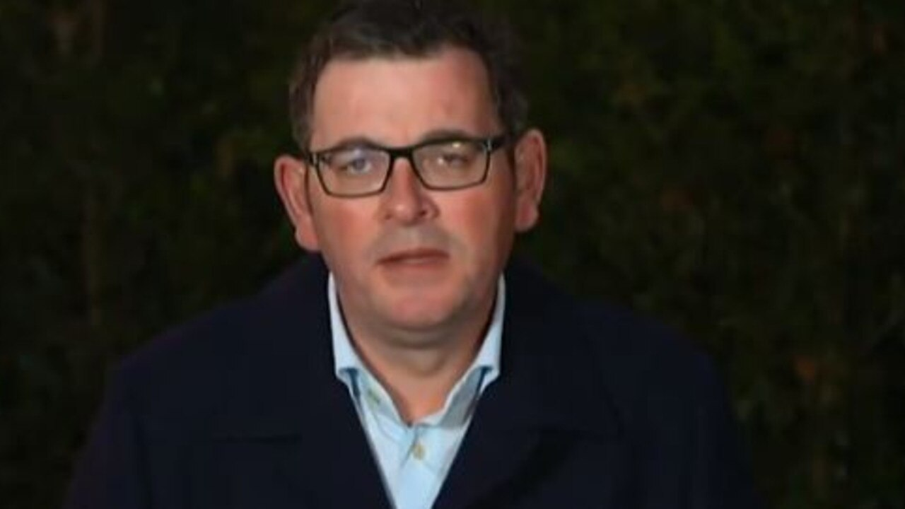 """It is about doing what has to be done,"" Dan Andrews said on The Project. Picture: Channel 10"
