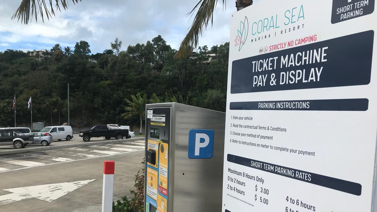 Free parking at Coral Sea Marina and Port of Airlie will end on Monday.