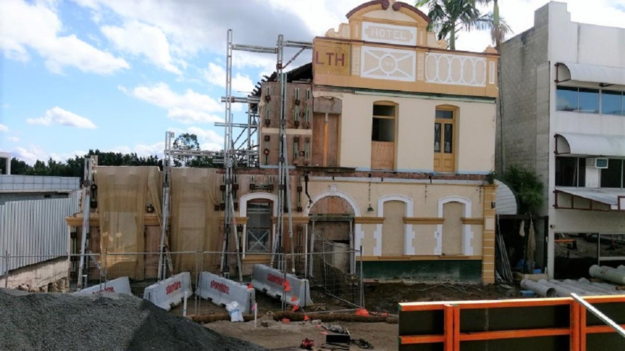 Works on the old Murphy's town pub.