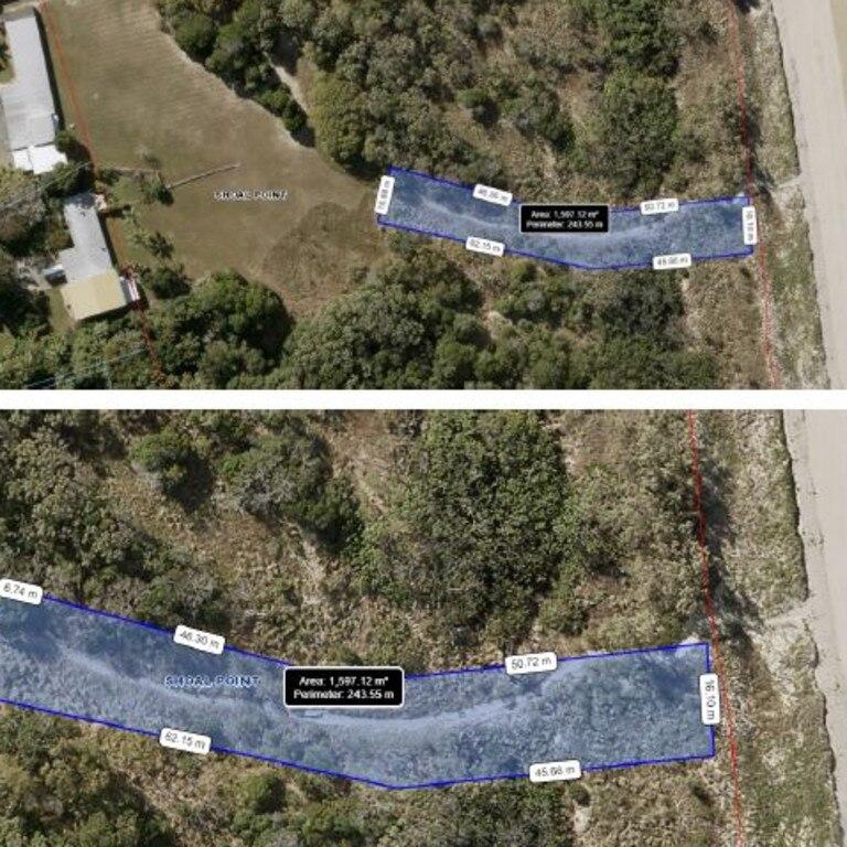 Vegetation vandalism on Shoal Point Road.