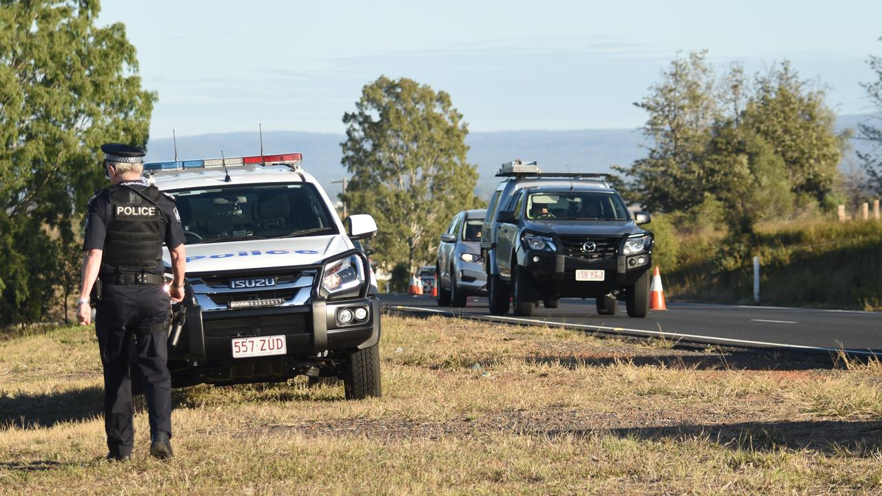 FATAL CRASH: A person has died on the Warrego Highway near Glenore Grove. Picture: Ali Kuchel
