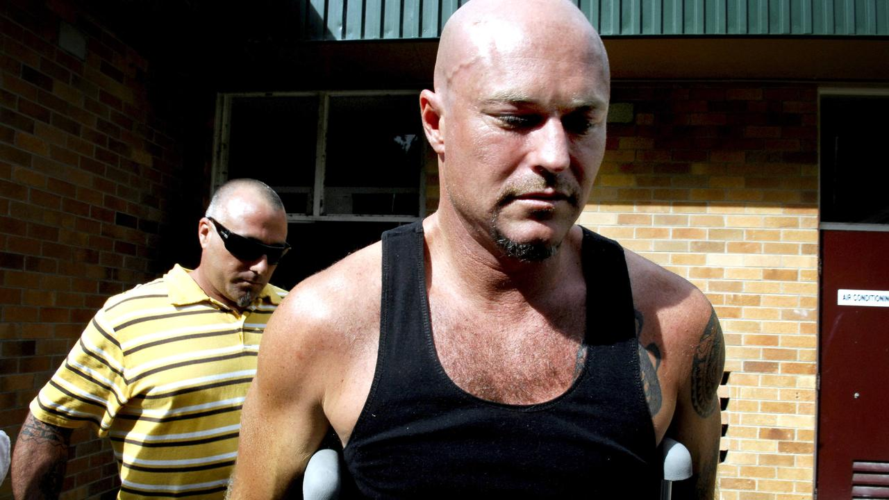 Michael Williams pictured leaving Mullumbimby Hospital for a television appearance soon after the sinking of the Sea Rogue in February, 2008.