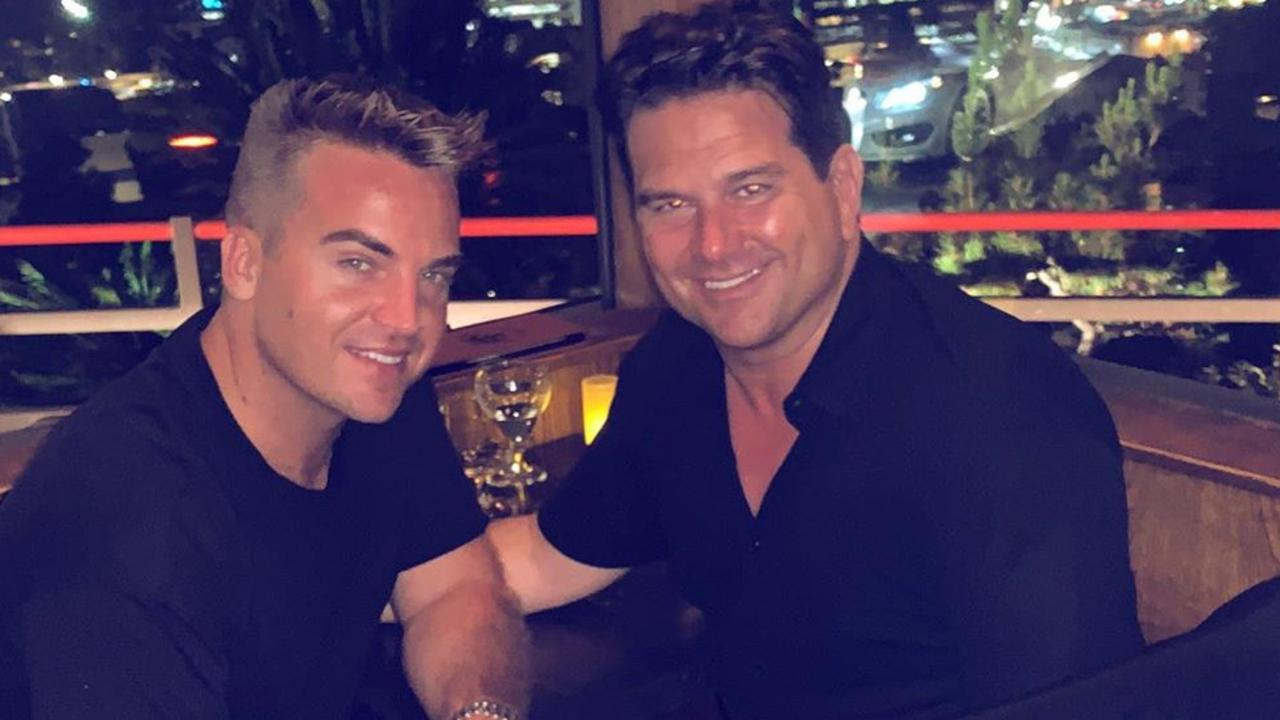 James Maas and his husband Adam Schroeder. Picture: Instagram